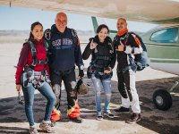 Enjoy the feeling before go flying with a parachute