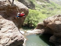 Rappelling in paradise