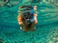 Disfrutando el snorkel