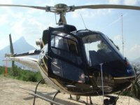Helicopter with panoramic views