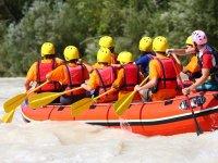 Team paddling
