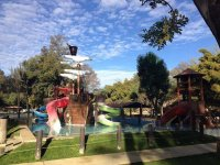 Slides and pools