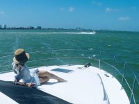 Seeing the panorama from the yacht