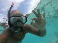 Enjoying a snorkeling excursion