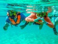 Enjoying a day of snorkeling