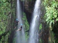 Descent in waterfalls