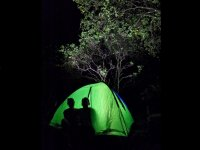 Camping de noche en Cascada Tucan