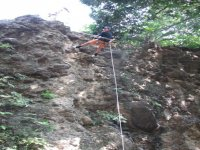 Rappel with friends