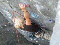Wall of climbing