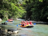 Quiet section of rafting