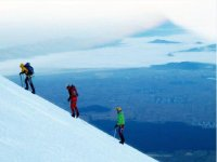 climbing peak of orizaba seemexico
