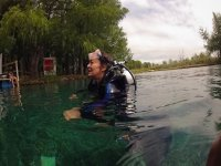 diving in the lagoon