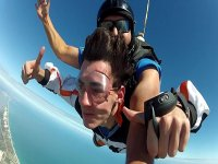 Jumping skydiving