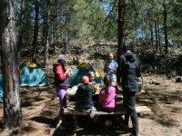 Campamento con peques