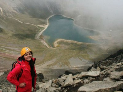 guided walk for one day Nevado de Toluca top