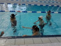 Snorkeleando en alberca