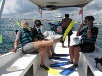 Listas para hacer snorkel