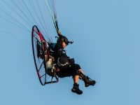 Flying by paramotor