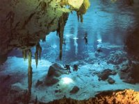 Cenote exploration with diving