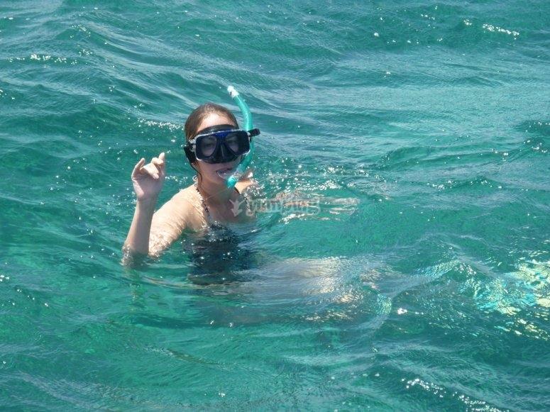 Ven a hacer snorkel