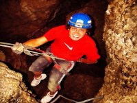 rappelling in caverns