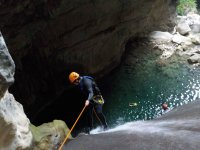 Rappel in spectacular places