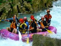 Rafting in rivers of the Huasteca