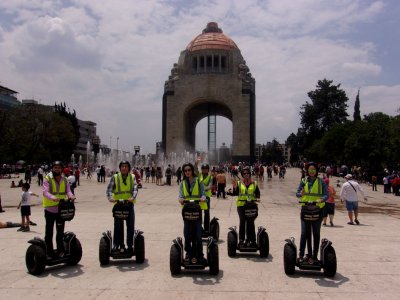 Segway tour in Paseo de la Reforma, Mexico City