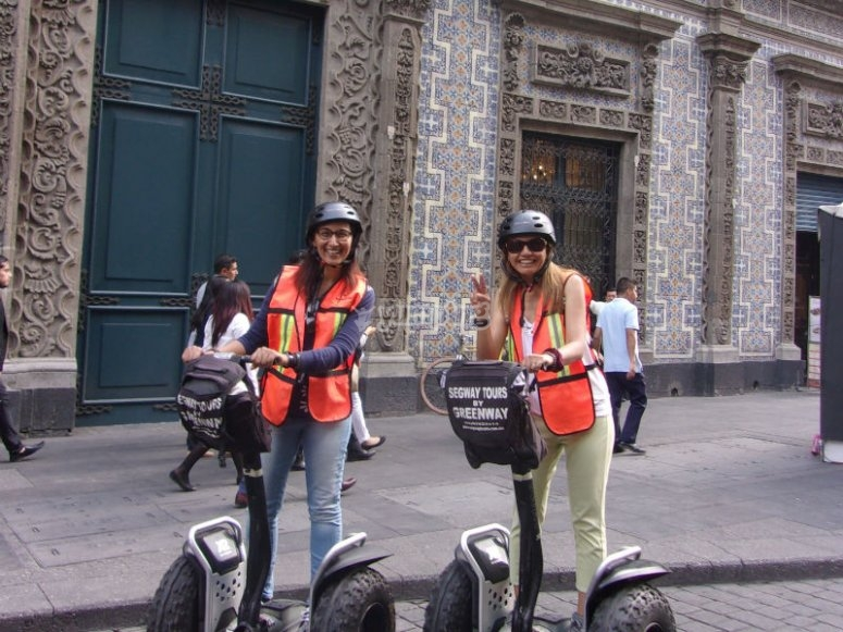 Enjoying the tour of the city center