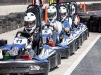 Karts at full speed