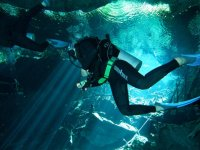 Diving in cenotes of the Caribbean