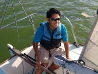 Enjoying a delicious sailboat ride