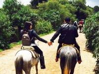 Disfruta de una cabalgata en pareja