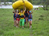 with rafts