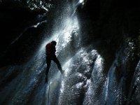 Descent through waterfalls