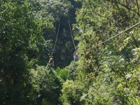 Zip-line of a rope