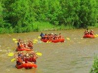 Large group rafting