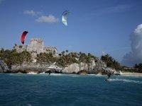 Kitesurf en mar caribe
