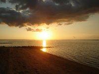 Beaches at sunset