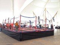 platforms of trampolines