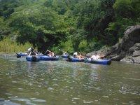 Having fun on the river