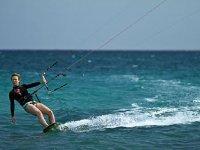 Kitesurfer del mar