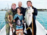 fishing with harpoon