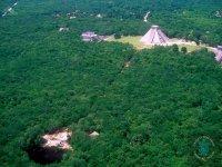 Vista desde las alturas de Chichen Itzá