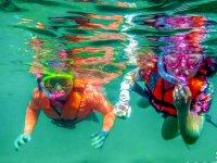 Snorkel en la aguas cristalinas del Caribe mexicano