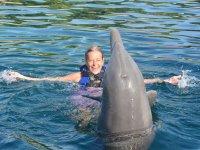 Nadando con el delfin