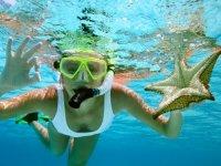 enjoying underwater
