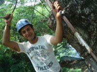 Zip-lines in cenote