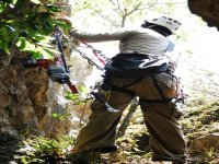 Rappel in the mountain
