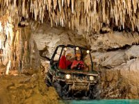 Buggie touring a cave